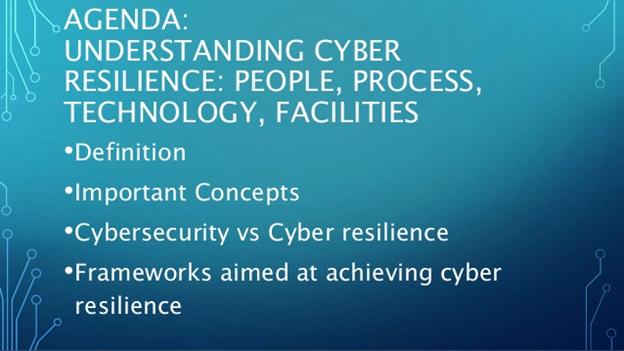 Understanding Cyber Reilience