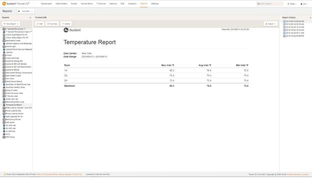 Temperature Report