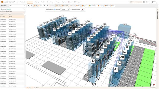 Visualize 3D Cable Connectivity